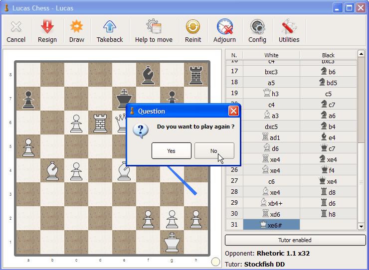 gra szachy na komputer lucaschess